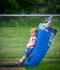 On The Bag (donna_0622) Tags: toddler leaning bag football kids nikon d750