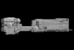 """CEC YV-330 """"Giant Kriffing Mynock"""" (Cagerrin) Tags: starwars lego space system spaceship freighter ldd lxf corellianengineeringcorporation"""