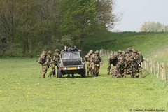 "Exercise : "" Falcon Prepare"" (Combat-Camera-Europe) Tags: grave army exercise military nederland exercises nato armee niederlande amb militär otan paratrooper landmacht luchtmobielebrigade 11amb falconprepare"