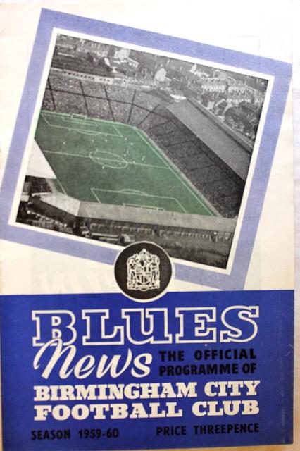 Birmingham City v Manchester United 1st Div 05-09-59