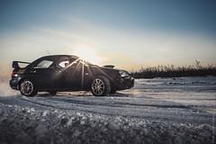 IMG_9199 ( ) Tags: winter snow cars car sport flash rally subaru impreza wrx sti strobe drift strobist