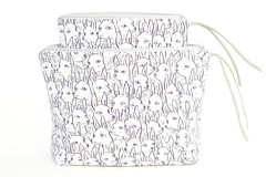 Deer Garden Boxy Pouches (imaginary animal) Tags: illustration bag deer purse pouch textiledesign patterndesign