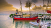 The Red Sailboat (Denzil D) Tags: sunset water sailboat boats restaurant florida floridakeys loveboat greenwater romanticsunset wifescamera canonpowershots95 womanshome