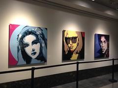 Madonna Lady Gaga Prince (evil robot 6) Tags: seattle art painting madonna prince conventioncenter ladygaga