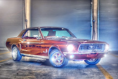 Old Stang (Firefighting) Tags: old boss original girls red horse usa hot classic ford sports car race photoshop photography photo high nikon women track industrial power unitedstates dynamic florida wheels engine elvis headlights rubber velvet tires collection pony chrome photograph modif