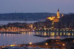 Menton (TREBOR YLOJ) Tags: mer port pose village lumire soire soir plage menton alpesmaritimes mediterranne rivira