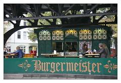 burgermeister snackbar (piktorio) Tags: house berlin train kreuzberg germany construction burger fastfood hamburger ubahn historical snackbar imbiss burgermeister bedrfnisanstalt schlesischestor piktorio