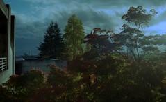 Science Centre Sunset (jvde) Tags: burnaby coolscan 3570mmf3345nikkor fujicolor film nikon nikonfe sfu gimp