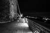 Clifton suspension bridge (technodean2000) Tags: uk bridge england white black night bristol landscape mono nikon suspension clifton lightroom photoscape d5300