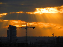 Leeds Sunset Skyline (Gary Chatterton 3 million Views Thank You All) Tags: sunset skyline flickr crane leeds explore exploreinterestingness westyorkshire towerblock
