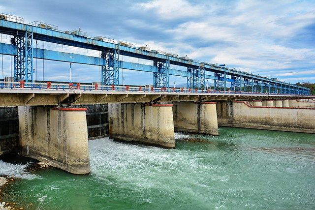 India - Uttarakhand - Haridwar - River Ganges Dam Wall - 1