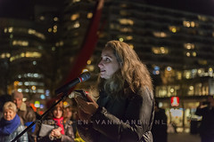 Celebration of Chanoeka, Rotterdam (anat kroon) Tags: holland netherlands rotterdam december candle jewish holanda jews festivity hanukkah schouwburgplein chanuka chanoeka aboutaleb   nikond800 kroonenvanmaanenfotografie anatkroon