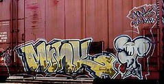 monk10 (oldschooltwincitiesgraffiti) Tags: street art minnesota train graffiti midwest paint character stpaul minneapolis monk tags spray mpls spraypaint twincities graff aerosol mn freight stp
