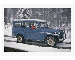 Vehicle Collection (5103) - Willys Overland (Steve Given) Tags: snow tourism automobile 4x4 blizzard willys fourwheeldrive overlander familycar socialhistory