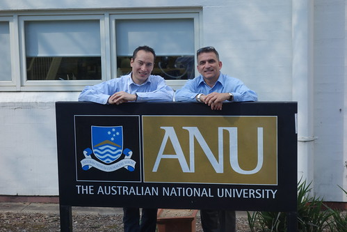 Jean-Christophe Lonchampt welcomes Carlos Lee to the Australian National University in Canberra.