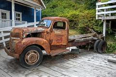 Truck in Telegraph Cove (Patrick Carpreau) Tags: canada truck vancouverisland hdr telegraphcove photomatixpro canon5dmarkiii