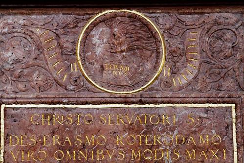 Detail from Erasmus memorial - 2