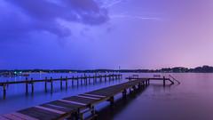 Cool Lightning (ken.krach (kjkmep)) Tags: pier maryland lightning middleriver