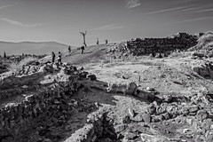 Near the Top of the Tel (brev99) Tags: blackandwhite mountain israel tel tourists beitshean atx124afprodx d7100 ononesoftware tokina1224dxii perfecteffects9 perfectphotosuite9