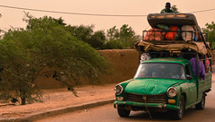 African Traffic (DC P) Tags: africa old green car traffic pickup oldtimer mali overloaded