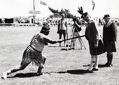 Chief of Cameron challenged by a Maori Warrior