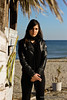 christina 7 (Kostas Gourgiotis (Cost@s)) Tags: sea sun black sexy girl leather scarf canon photoshoot cigarette christina journal smoking jeans jacket brunette bikers kostas 50mmf18ii a 60d gourgiotis