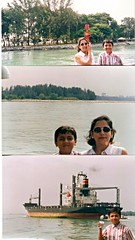 0Hscan0076 My wife and son in Singapore in 1999 (Rajeev India (THANKS for views, comments n faves)) Tags: singapore son 1999 wife my