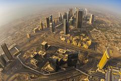 View of Dubai from Burj Khalifa (wolnerchris) Tags: world cruise sunset costa 3 building canon eos amazing dubai photographer view mark iii christopher 15 swedish fisheye khalifa 1d worlds mm f28 ef mk burj tallest 2014 deliziosa wlnerhanssen wolnerchris