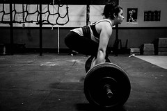 Lana, Lynwood Crossfit 001 (missmckee) Tags: seattle blackandwhite bw woman white black girl female digital photoshop work canon washington intense arms muscle equipment strong strength workout gym weights lightroom lynwood crossfit canont2i