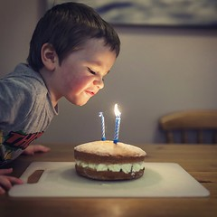 Make a Wish (-The Wickerman-) Tags: portrait cake candles ben sigma blow canon5d markii 35mmf14