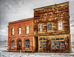 Bodie Hotel and I.O.O.F. Hall (stephencurtin) Tags: california gold hotel town hall ghost historic rush era bodie ioof thechallengefactory