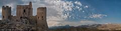 Arroccato (Davide'70) Tags: montagne italia nuvole castello paesaggio bellezza abruzzo laquila silenzio gransasso campoimperatore fascino transumanza roccacalascio immenso postodiguardia