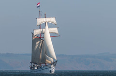 Under Sail (Ginger Snaps Photography) Tags: seascape dutch scotland flying sailing wind flag vessel highland boating sail windpower chanonry dutchman