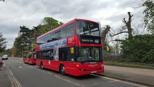 SP100 YT59SGY Scania Omnicity 10.8m on route 681