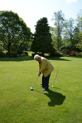 Dad improves his swing (quintinsmith_ip) Tags: flowers grass hotel grasmere grounds wordsworth wordsworthhotelandspa
