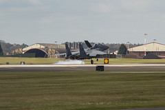 The Eagle Has Landed! (LukeThom96) Tags: plane airplane eagle smoke landing brakes touchdown usaf landed f15