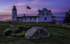 Pemaquid Point at Dawn (Jeff Clow) Tags: morning travel usa lighthouse landscape outside outdoors dawn spring twilight maine pemaquid eastcoast