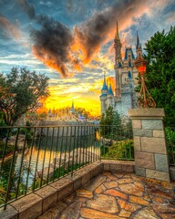 Where Magic Lives (Lynleigh Cooper) Tags: park trip travel family winter sunset vacation favorite color detail castle love nature beauty clouds fun happy photography photo orlando amazing nikon colorful december honeymoon florida magic awesome disney mickey adventure disneyworld fantasy photograph mickeymouse waltdisneyworld naturalbeauty magical hdr themepark magickingdom goldenhour attraction attractions waltdisney traveler fanciful orlandoflorida happiestplaceonearth cinderellacastle d610 themagickingdom waltdisneyworldresort disneypictures disneyfun goldenhourlight disneyphotos disneysunset disneyphotography nikond610