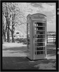Telephone Box Library (Dave Woodhead 71) Tags: uk mamiya rollei kodak library derbyshire infrared epson paterson telephonebox hoya rz67 xtol r72 110mm v750 ir400
