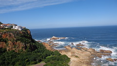 Knysna Heads (Rckr88) Tags: ocean africa travel sea cliff nature water southafrica outdoors coast south cliffs coastal greenery coastline gardenroute knysna westerncape rockycoastline knysnaheads