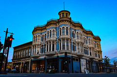 Blue hour beauty (James_D_Images) Tags: street heritage architecture dusk victorian porttownsend pacificnorthwest bluehour washingtonstate 1890 hastingsbuilding