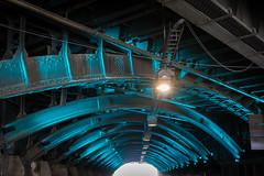 Gleisunterfhrung Kln (pesom) Tags: bridge light train licht sony tunnel brcke bahn turqoise stahl unterfhrung trkis mirrorless a6000 sel1670z