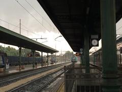 Typical Italian storm:) (Wendy:) Tags: storm rain station train midday mantua