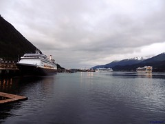 Juneau Cruise Ships (B737Seattle) Tags: 2016 juneau alaska gastineau channel downtown hal holland america line cruise lines cruises amsterdam r class timothy kalweit b737seattle nikon coolpix p510 ship boat vessel luxury ocean liner ncl norwegian pearl princess star jewel grand panamax postpanamax