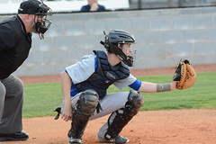 All eyes on the ball (AppStateJay) Tags: school game macro sport high community nikon baseball di if athlete davidson f28 ld umpire 70200mm cather tarmon d7100