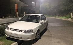 IMG_1154 (ECOgarf!) Tags: hyundai hyundaiaccent accent 2001 accentgls fog car carinterior interior dashboard steeringwheel airbag