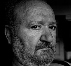 Pateras Portrait edited BW (Thanasis Gatz) Tags: life portrait bw face view age sight feelings