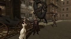 Runaway Carriage (Noddington Schmooz) Tags: dc victorian superman sl secondlife steampunk noddington noddingtonschmooz