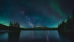 Epic Night at Two Jack Lake (Javier de la Torre Garca) Tags: park two lake canada way jack rockies canadian via national aurora banff milky borealis boreal rocosas canadienses lactea javierdltcom javierdltes