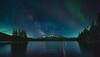 Epic Night at Two Jack Lake (Javier de la Torre García) Tags: park two lake canada way jack rockies canadian via national aurora banff milky borealis boreal rocosas canadienses lactea javierdltcom javierdltes